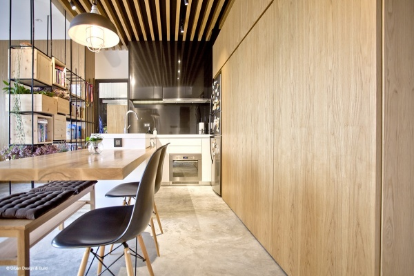Interior Design by Urban Design & Build Rustic Condo The Metropolis Residence Dining Room