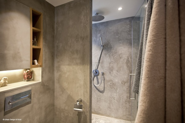Interior Design by Urban Design & Build Rustic Condo The Metropolis Residence Bathroom